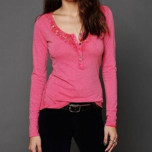 Free People Pink Legacy Henley Size XS